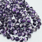 "4-12mm Natural Dream Purple Amethyst Round Beads 15.5"" Pick Size"