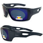 Mens EYEPATCH 2 Large Square POLARIZED Mirrored Lens SUNGLASSES