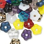 Lot of 100 Assorted Color Czech Glass Round Flower Shaped Mixed Spacer Beads