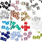 10 Czech Hour Glass Shaped 6mm x 4mm Pellet Interlocking Beads for Weaving