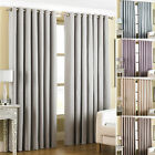 "Paoletti Amari Fully Lined Ready Made 66 x 72"" Ring Top Eyelet Curtains"