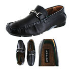 Moda Essentials Men's Buckle Loafers Driving Mocs Faux Leather