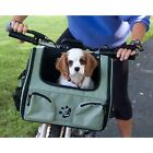 Pet Gear 3-in-1 Pet Dog Bike Bicycle Basket Seat size Small color Sage