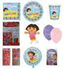 DORA THE EXPLORER Birthday Party Range (Amscan/Blue) Tableware/Balloons/Stickers