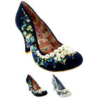 Womens Irregular Choice Pearly Girly Floral Slip On Party High Heels US 5.5-11