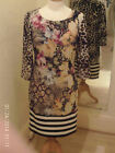 Frank Lyman Black/Brown/Multi Leopard & Floral Print Dress 53141