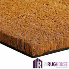 THICK HARDWEARING COIR COCONUT DOOR MATTING ENTRANCE MATS UK 0.75m, 1m, 2m Wide
