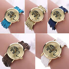 ATTRACTIVE ELEPHANT DIAL MULTI LAYERS CHAIN BRAIDED WRAP BRACELET WRIST WATCH