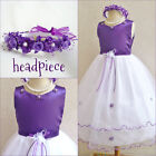 Gorgeous Purple Lapis wedding pageant flower girl party dress size 2 4 6 8 10 12