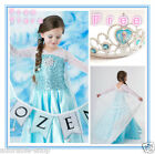 KID Elsa Anna Princess Christmas Birthday Party Costume Dresses SIZE 3 4 5 6 7 8