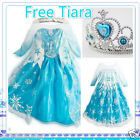 KIDS Girls Elsa Princess Birthday School Party Costume Dresses SIZE 3 4 5 6 7 8Y