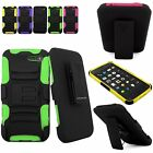 For Amazon Fire Phone Hybrid Rugged Armor Belt Holster Hard Soft Kickstand Case