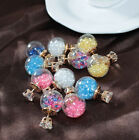 wide varieties attractive fashion glass ball small diamond earrings