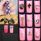 60 Design 3D Plated Alloy Nail Art Tip Decoration Bling Rhinestones Tools New
