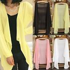 Hot Summer Women Lady Girl Casual Open Cardigan Sweater Long Sleeves Top Blouse
