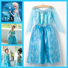 Kids-2  Elsa Anna Disney Frozen Princess Costume  Girls Dresses Age 3.4.5.6.7.8