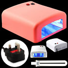 New Nail Dryer 36W UV Lamp Light Gel Curing Timer with 4 x 9W Blubs