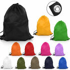 WOMEN MEN DRAWSTRING BAG/SACK/BACKPACK/RUCKSACK SWIM SCHOOL PE SPORT -WATERPROOF