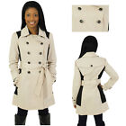 Jessica Simpson Women's Color Block Trench Coat Jacket
