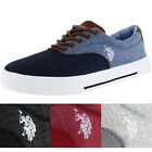 U.S. Polo Assn Skip Men's Linen Fashion Sneakers Boat Shoes