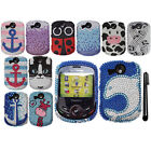 For Pantech Jest 2 TXT8045 DIAMOND GEM BLING CRYSTAL HARD Case Cover Phone + Pen