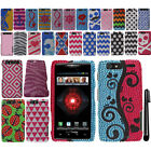 For Motorola Droid Razr Maxx XT913 XT916 XT912M BLING HARD Case Cover + Pen
