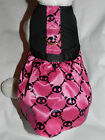 DOG CAT FERRET~Couture Harness Gothic Satin Retro PINK Punk SKULL Dress Outfit