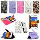 Samsung Galaxy S2 Epic 4G Touch D710 Leather Wallet Card Slot Flip Stand Case