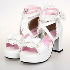 #8025W Sweet Gothic Punk KERA LOLITA shoes DOLLY Punk platform shoes 7.5cm heels
