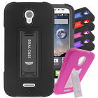 For Galaxy Tab A 8.0 EC2 Hybrid Hard Rubber w T Stand Case Colors