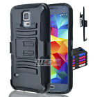 For Galaxy Note 5 Rugged Hybrid H Stand Holster Case Colors