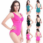 Pop Women Padded Bra Bikini Monokini Swimwear Swimsuit Solid Plus Multi Size