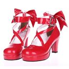Sweet Gothic Punk KERA LOLITA shoes DOLLY Pump heels 7cm 4colors 5.5-9.5, 34-41