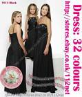long sequins formal wedding Bridesmaid flower girl evening prom party ball dress