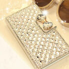 Bling Luxury Bowknot Crystal Diamond Wallet Flip Case Cover For Samsung  iPhone