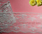 """3 Yards Lace Trim White 3-1/2"""" Scalloped M117V Added Items Ship No Charge"""