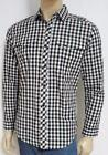 Billabong Mens Button Up Long Sleeve Black White Plaid Shirt 100% Cotton New NWT