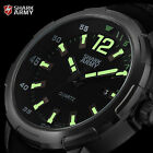 SHARK ARMY AVENGER 6 Colours Mens Date Luminous 46MM Case Leather Wrist Watch
