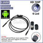 Waterproof 5.5mm/7mm 6LED USB Endoscope Borescope Snake Inspection Camera Scope