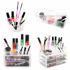 Makeup Cosmetic Case Lipstick Brush Acrylic Holder Organizer Drawer Stand Clear
