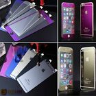 Gold Mirror Tempered Glass Front + Back Screen Protector For iPhone 6 5 5S 4 Hot
