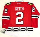 DUNCAN KEITH CHICAGO BLACKHAWKS 3X STANLEY CUP CHAMPIONS PATCHES HOME JERSEY