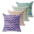Retro Cotton Cushion Cover Linen Blended Wavy Patterns Pillow Case Cushion Cover