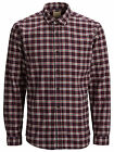 Selected Homme Greff Shirt Check Gingham Burgundy Navy Blue RRP £34.99 *BNWT*
