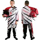 Kids CHILDRENS Motocross KIT Shirt & Trousers Race MX Quad OFF Road Honda RED