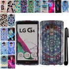 For LG G4 H815 F500 VS986 H810 Snap On PATTERN HARD Case Phone Cover + Pen