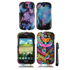 For Samsung Galaxy Express I437 Snap On PATTERN HARD Case Phone Cover + Pen