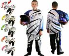 KIDS Child Motocross KIT Shirt Jersey & Trousers Race MX Quad sport 3-13 years