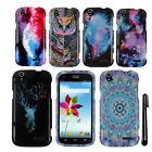 For ZTE Grand X Z777 Snap On PATTERN HARD Case Phone Cover + Pen
