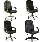 Faux Leather Executive Managerial Guest Swivel Computer Desk Home Office Chair